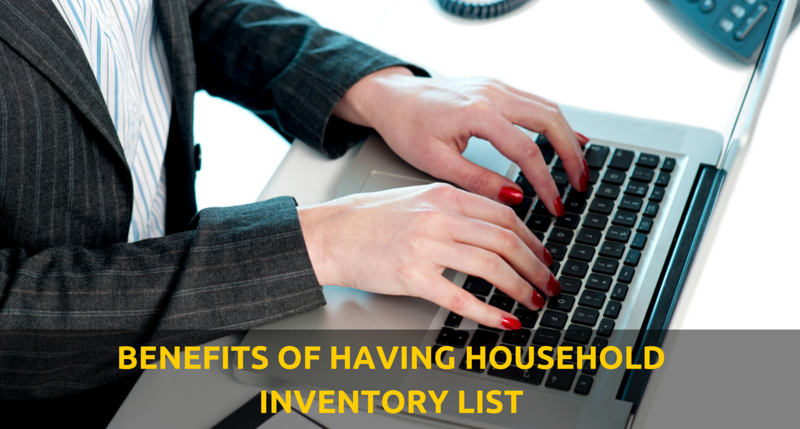 benefits of having houshold inventory list