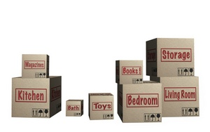 SORT HOUSEHOLD ITEMS AND GET MOVING BOXES