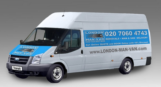 Extra Large Van and Man Hire Bow Church - Price and Size