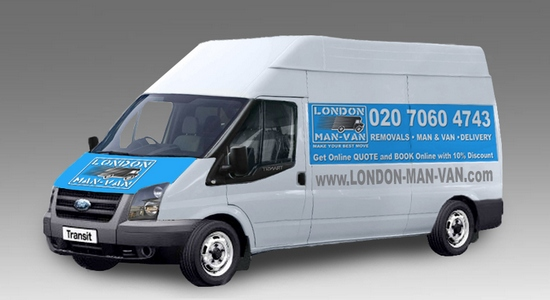 Large Van and Man Hire Fieldway Stop - Price and Size