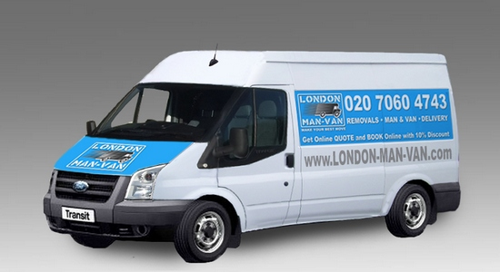 Medium Van and Man Hire Bow Road - Price and Size