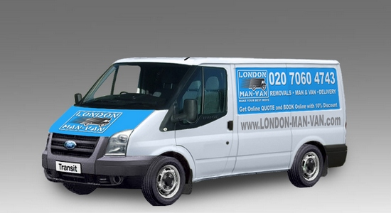 Small Van and Man Hire Oval - Price and Size