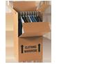 Buy Wardrobe Box with hanging rail in Burnt Oak