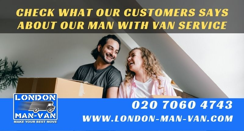 Customer would definitely recommend London Man Van to others