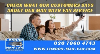 Review on Man with a Van from Tower Hamlets E2 to Wood Green N22