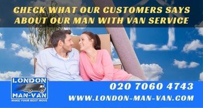 Client impressed with London Man Van service
