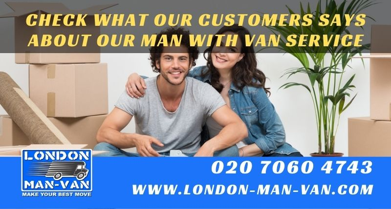 Movers from London Man Van were very helpful and polite