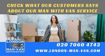 Punctual, friendly and very efficient personnel at London Man Van