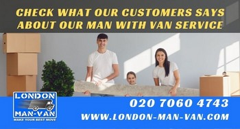 recommendation on man and van from Barnsbury N1 to Greenwich SE10